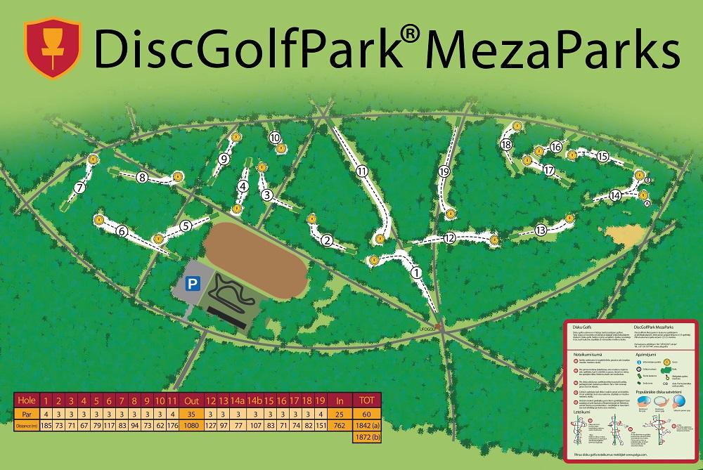 Pirmais DiscGolfPark disku golfa laukums Latvijā un vienīgais disku golfa laukums Rīgā!